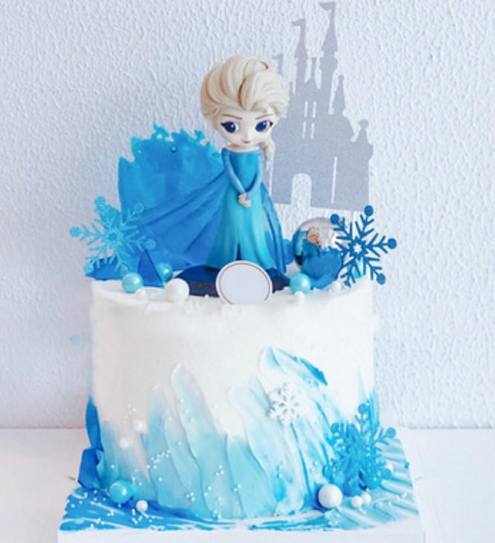 Tremendous Elsa Frozen Theme Kids Birthday Cake Food Drinks Baked Goods Personalised Birthday Cards Paralily Jamesorg