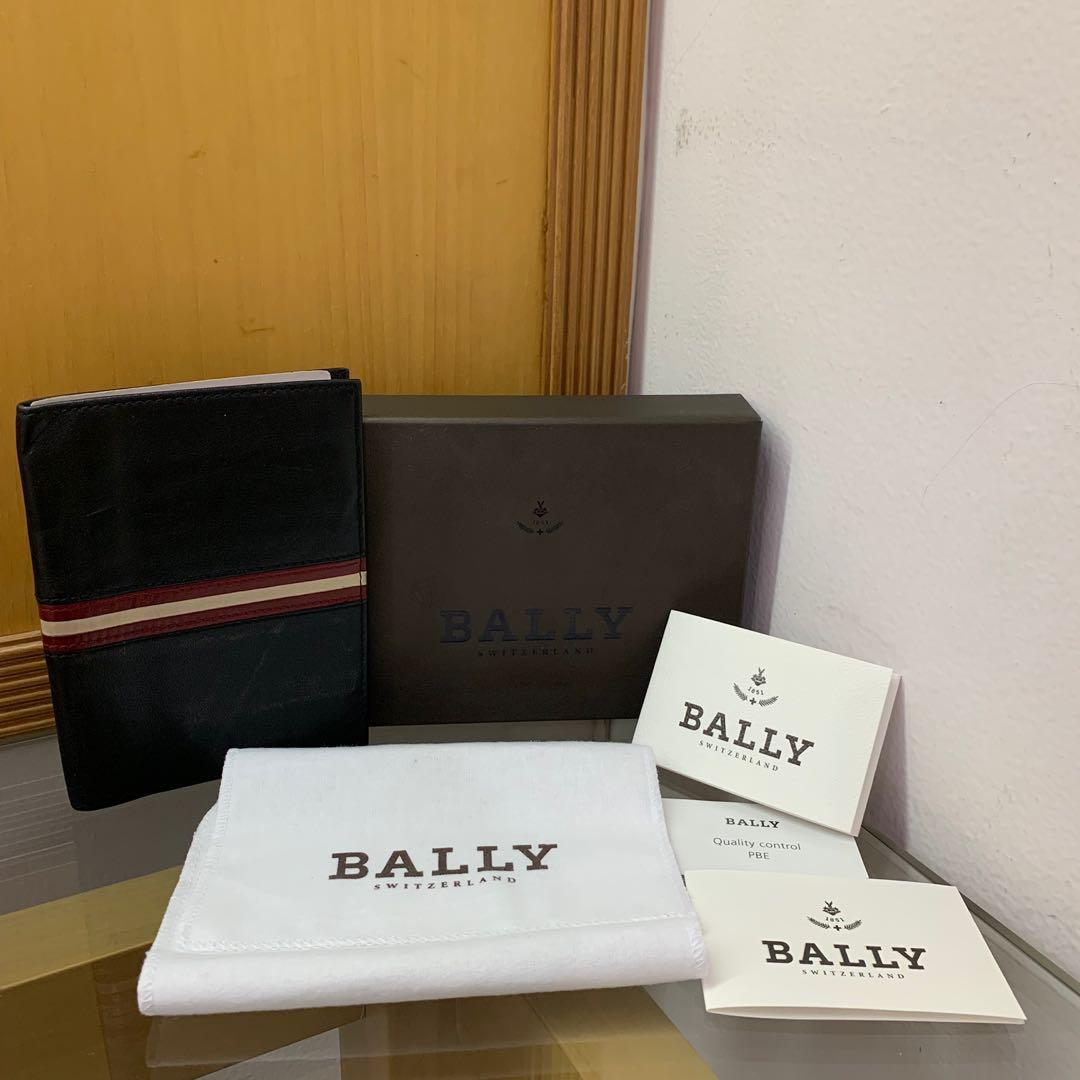 🔥FIRE DEAL🔥 EXCELLENT! Bally Classic Signature Stripe Passport Holder / Wallet (Authentic) (Branded) (Dompet Passport)