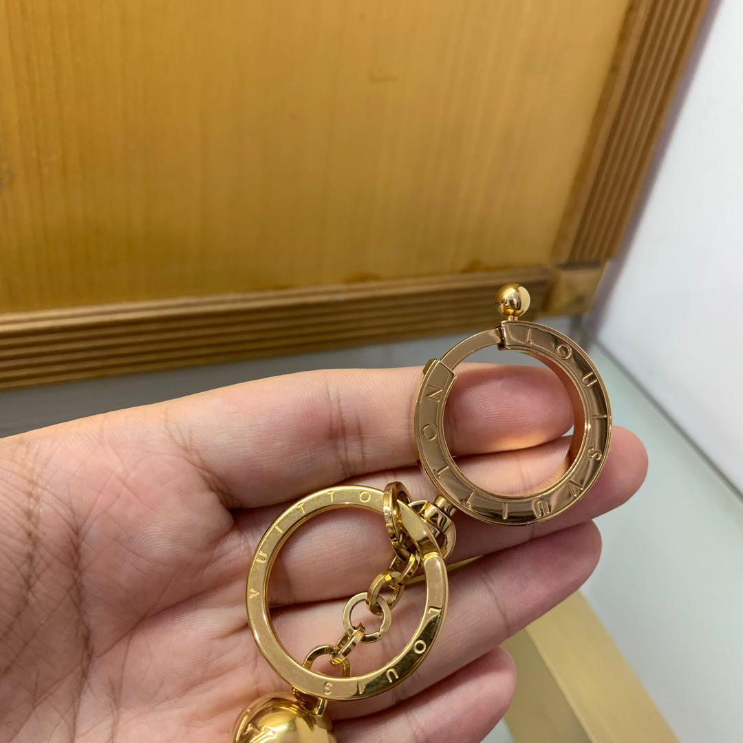 🔥FIRE DEAL🔥 Louis Vuitton Swing Gold Tone Tassel Key Chain Bag Charm (Authentic) (Branded) (Bagcharm)