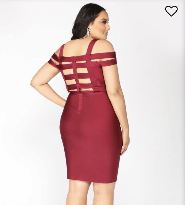 FN+ 2X Bandage Off-the-shoulder Dress