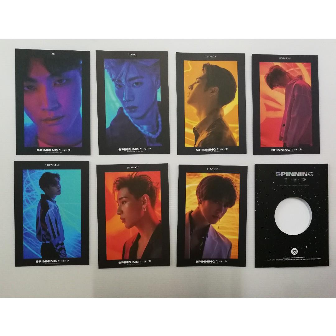 GOT7 Spinning Top Pre-order Benefit Card Set (Without Sticker)
