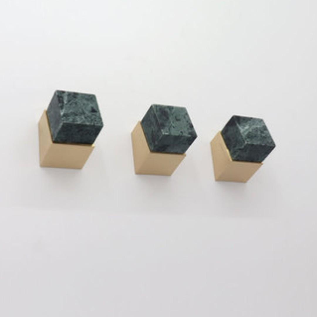 Green Marble Pedestal Knob Wall Hook Furniture Shelves Drawers On Carousell