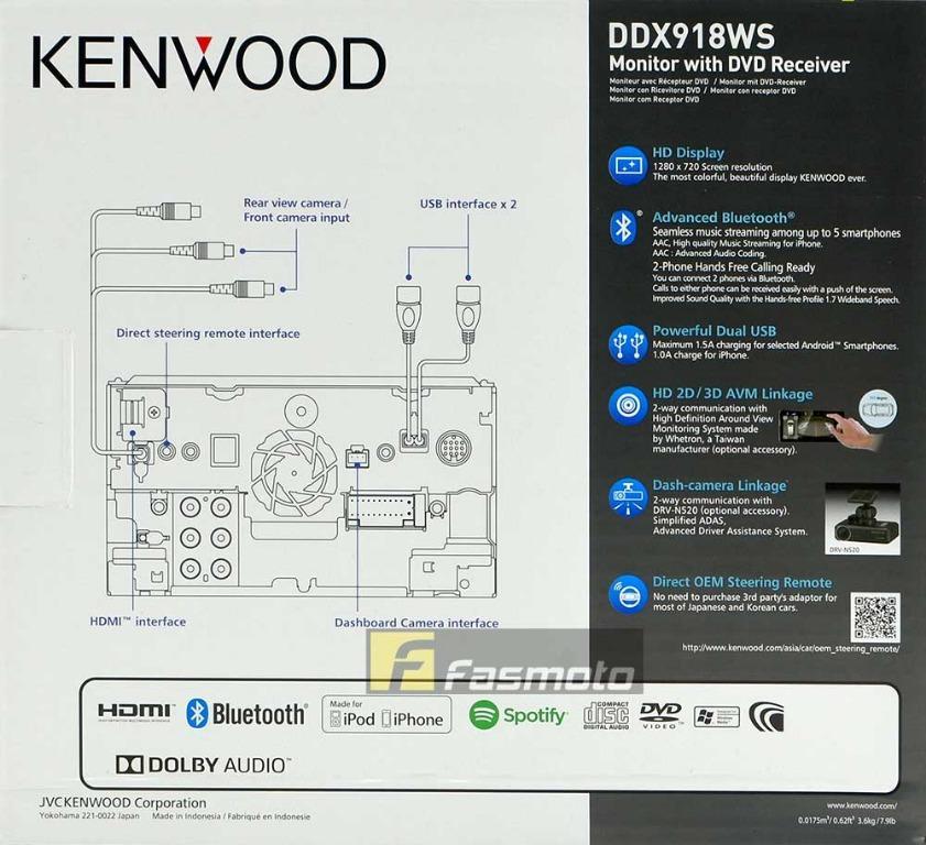 KENWOOD DDX918WS 6 8
