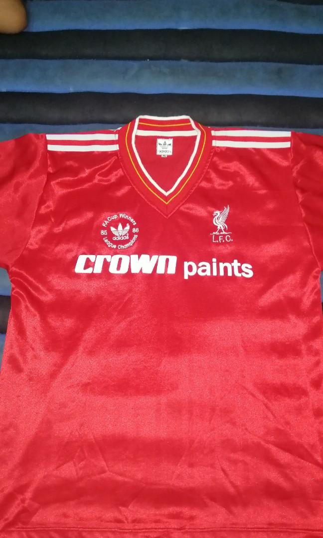 best service ced28 baddf Liverpool Jersey vintage adidas crown paints 1986, Men's ...