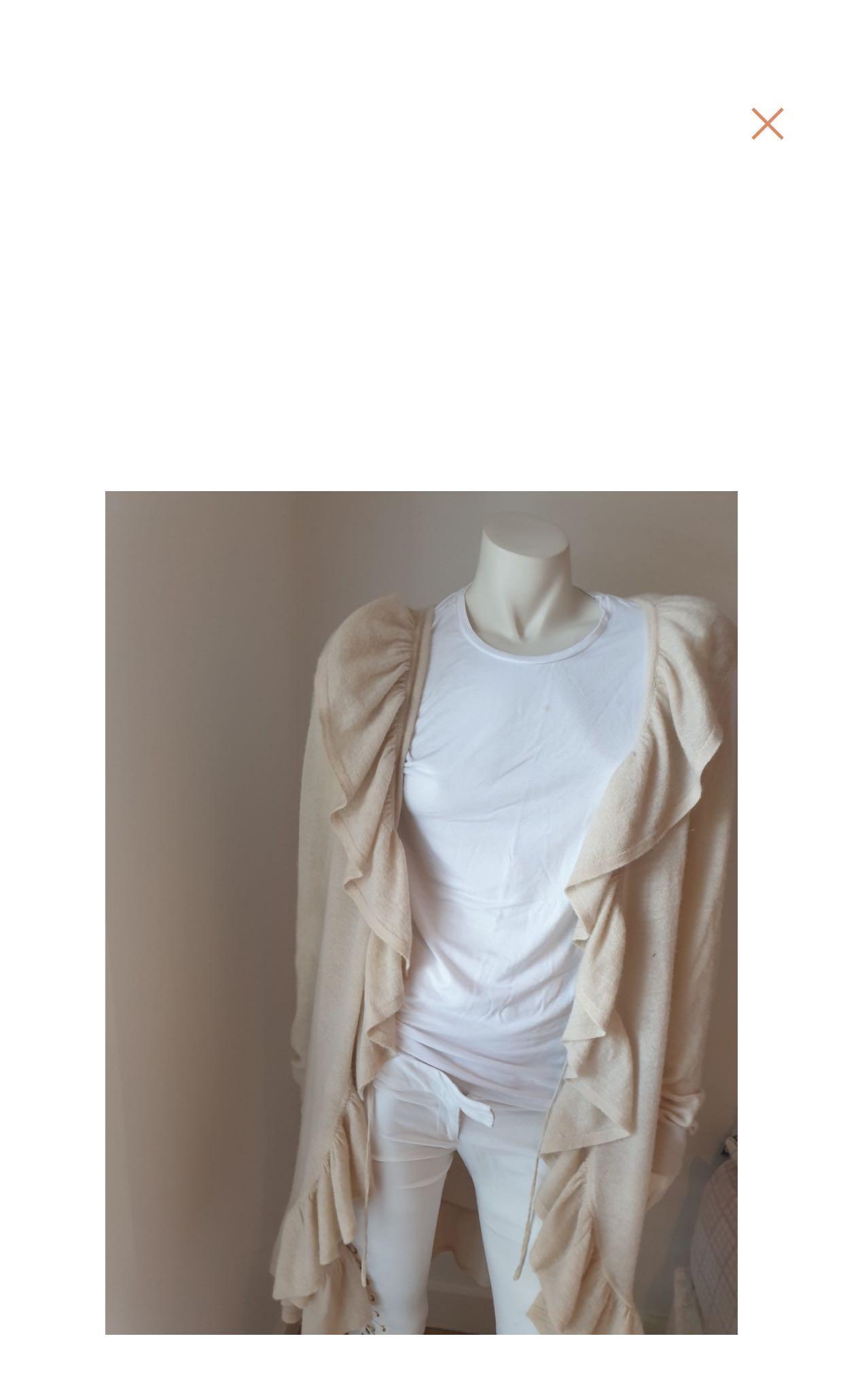 Luxury Cashmere Diane von furstemberg beige cardigan