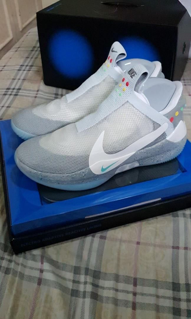 famous brand outlet boutique details for Nike Adapt BB Wolf Grey MAG US12 on Carousell