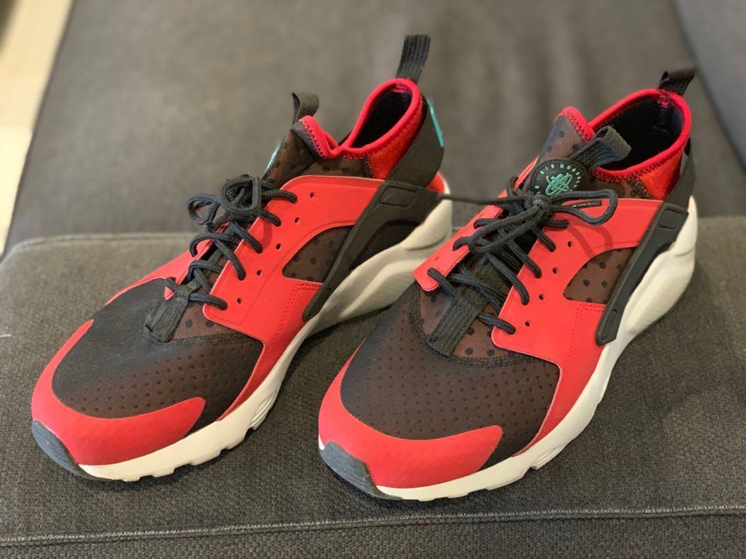 b11d5add5c8 Nike Huarache Red/Black Size 9.5 US, Men's Fashion, Men's Footwear ...