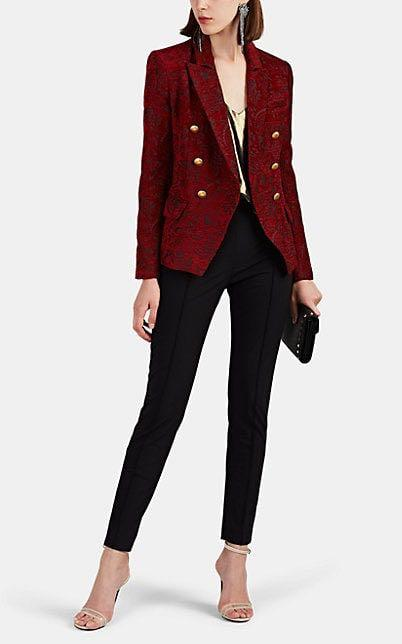 NWOT 85+% off! US4 L'Agence Kenzie Double-Breasted Jacquard Blazer Red