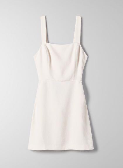 NWT Aritzia Ecoulement Mini Dress Light Birch Size 4
