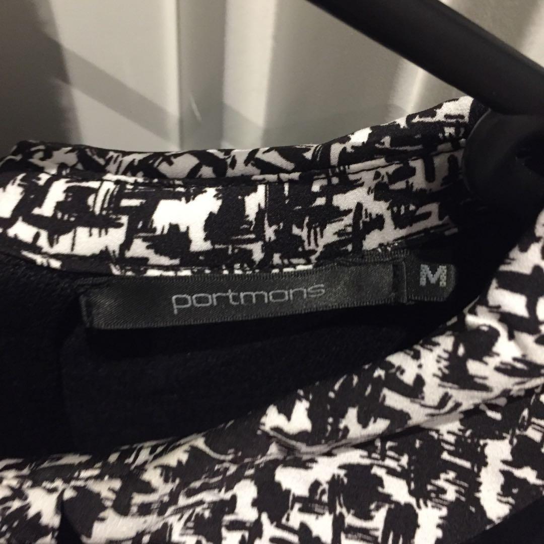 Portmans Size Medium Black Work Jumper with Collar.