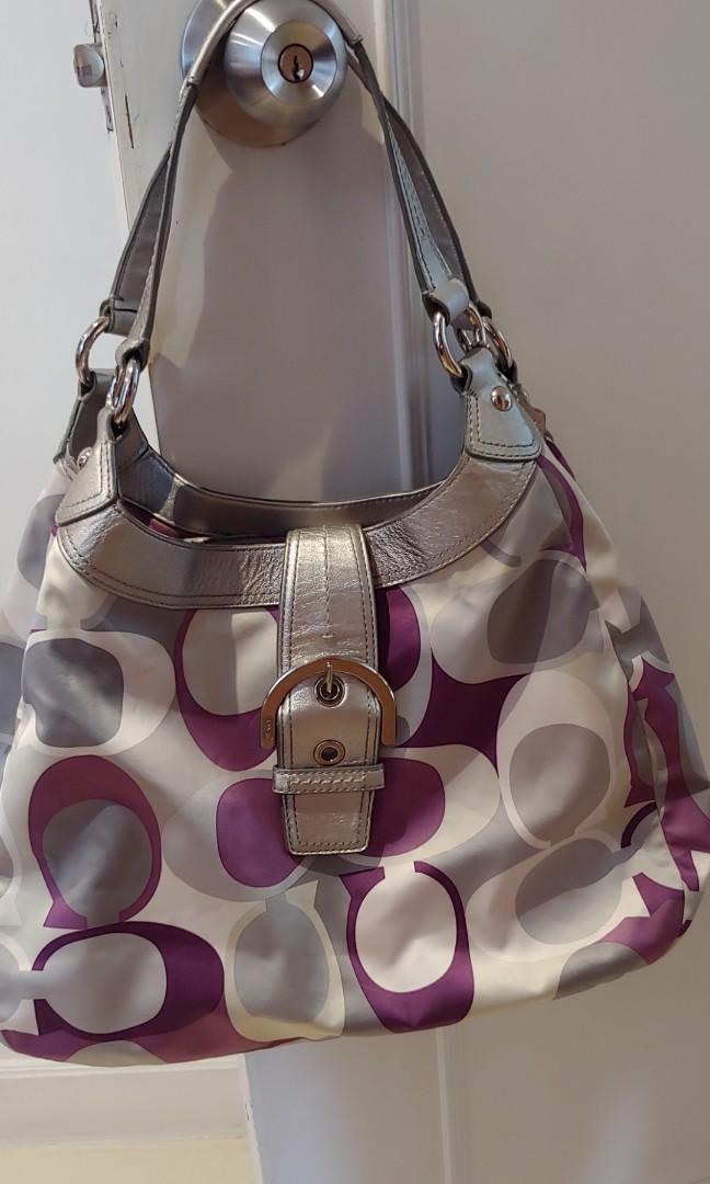 Purple Coach 手袋 handbag