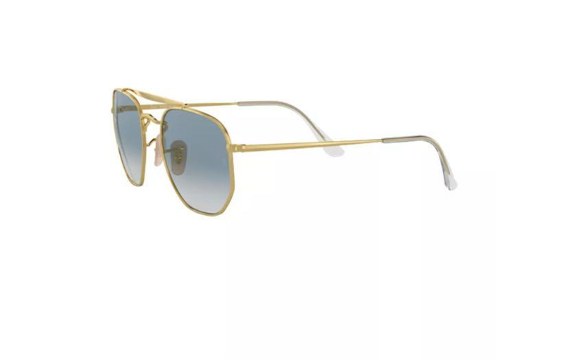 Ray Ban The Marshal Sunglasses RB3648 001/3F Gold Blue Gradient