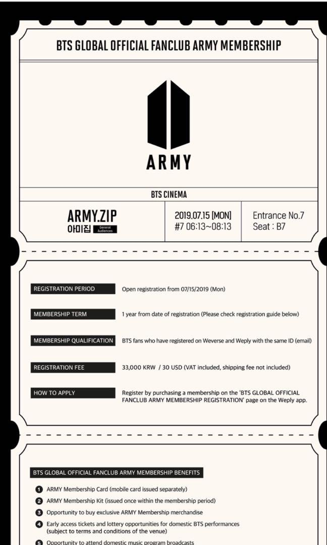PURCHASE SERVICE FOR REGISTER AS AN OFFICIAL ARMY 2019