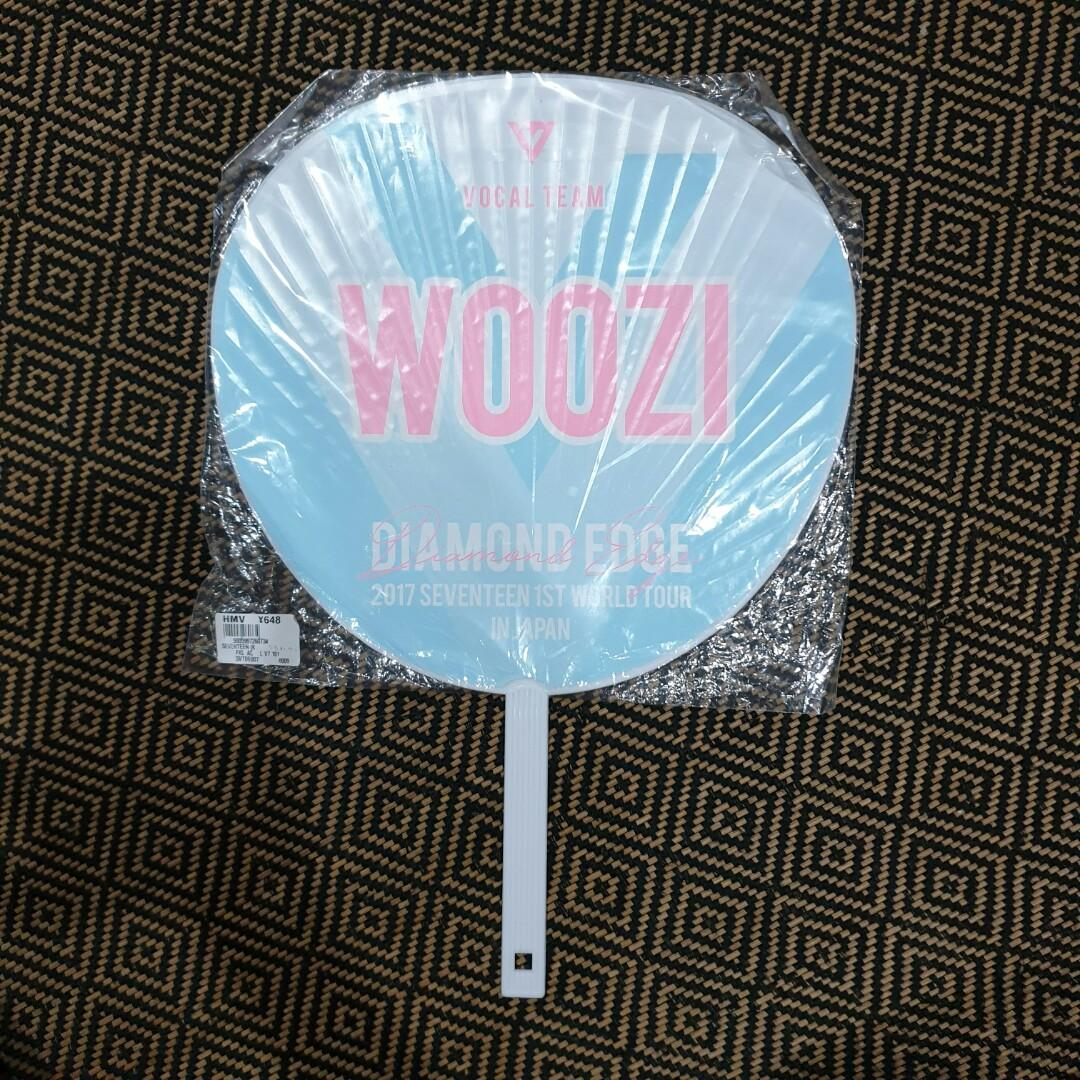 Preloved Seventeen Woozi Diamond Edge in Japan Official Concert Merch: Uchiwa / Hand Fan