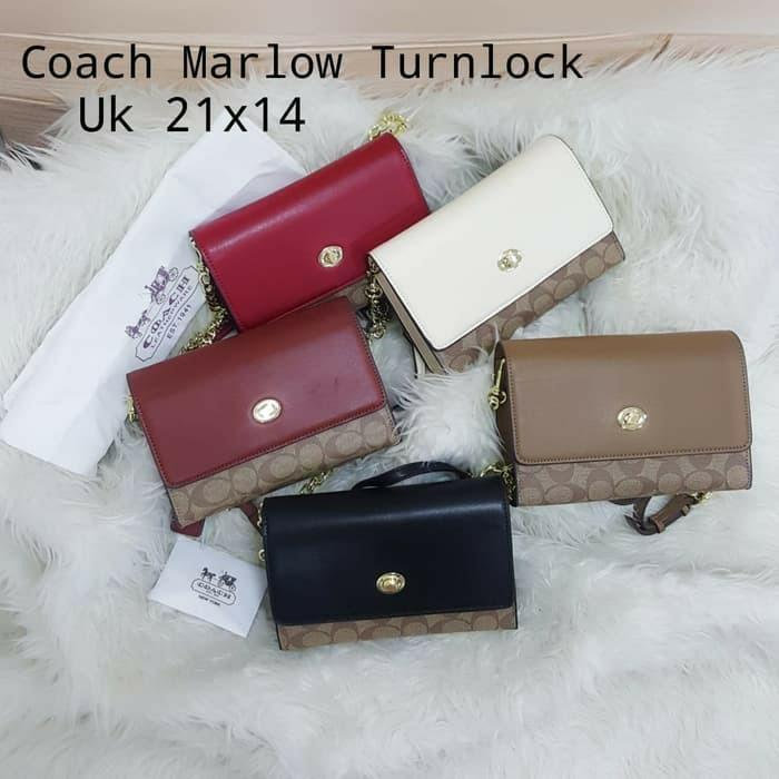 tas clutch coach marlow turnlock premium HK tas branded vintage #joinjuli