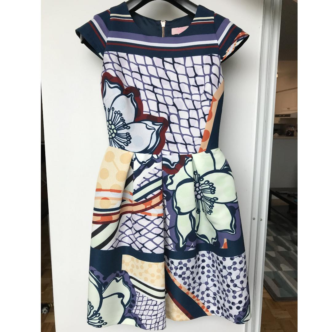 Ted Baker Dress - Only Worn Twice, Like New, Size 0