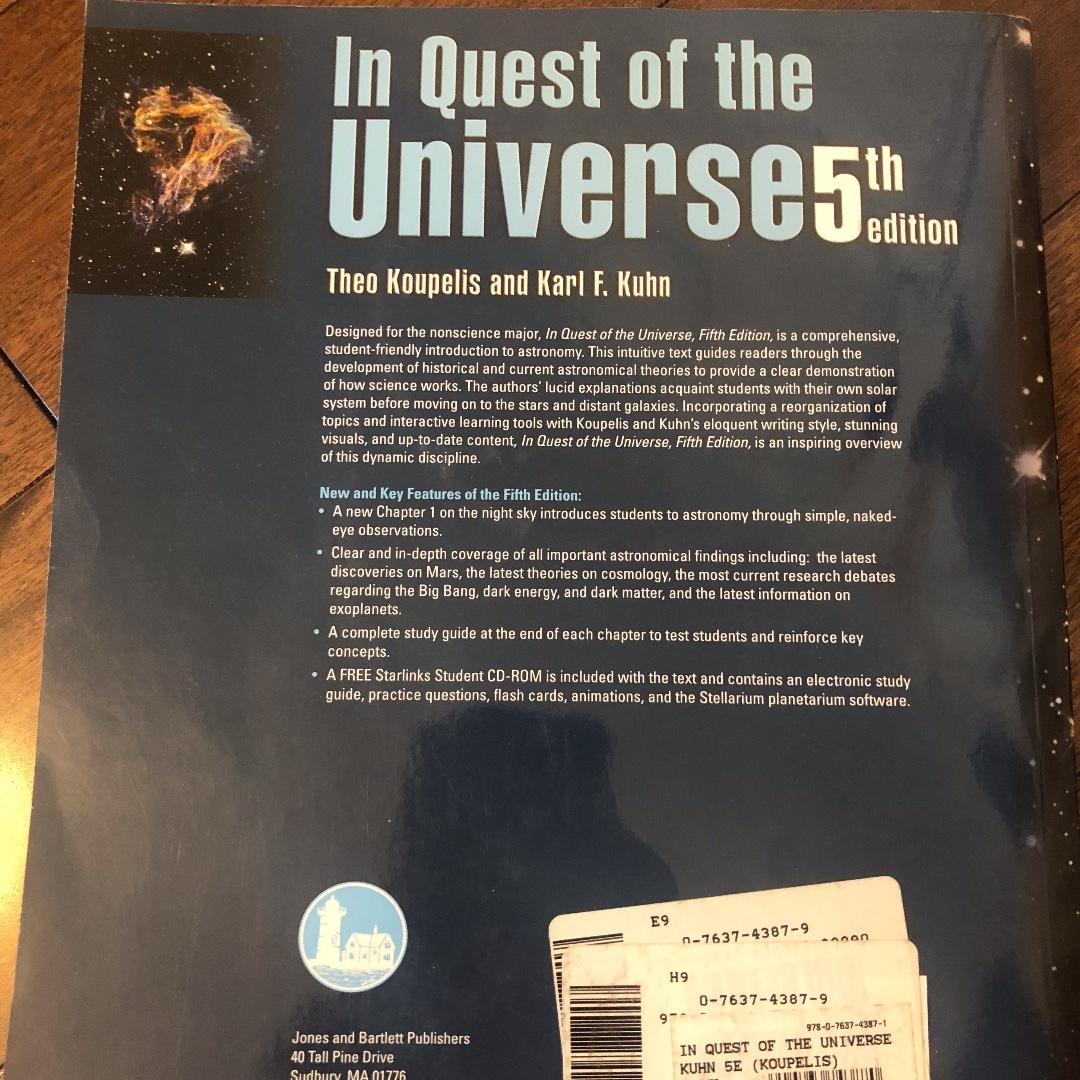 """""""The Quest of the Universe"""" 5th Edition Textbook for Sale"""