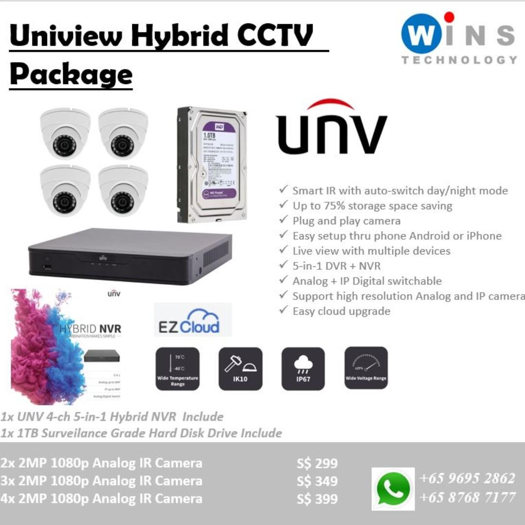 UNV Uniview CCTV System, Electronics, Others on Carousell
