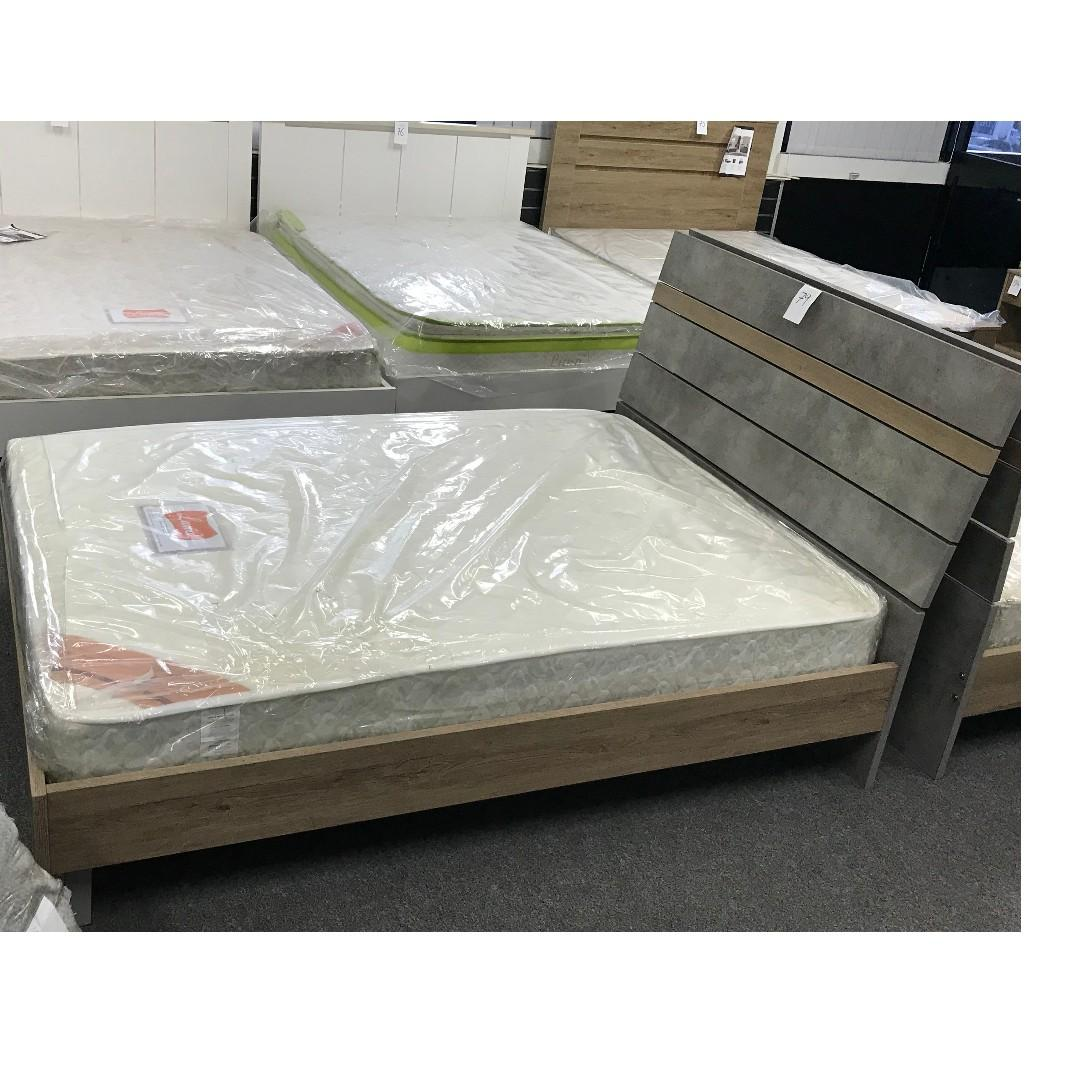 Wooden Bed Room Suite, Double bed with Tall Boy and Bed Side Tables at $670