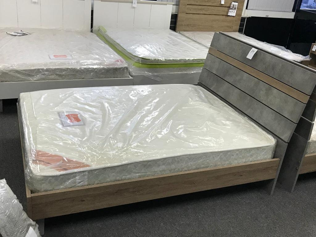 Wooden Queen Bed Suite, Queen Bed with Dresser with Mirror and Night Stand at $895