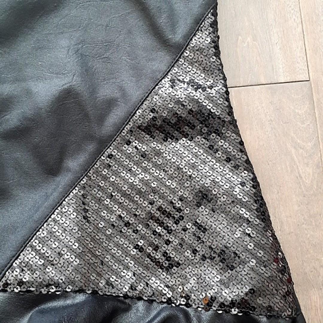 Zara Faux Leather Black One Shoulder Dress - Excellent Condition