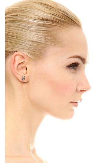 💚現貨💚 MARC JACOBS Icon Cutout Stud Earrings Silver 切割logo銀色耳環