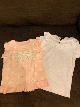 Baby girl T shirts, size 80