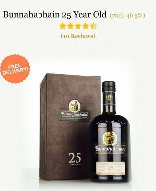 🚚 Bunnahabhain 25 +  Free amber samples ( Trade in are welcomed.)