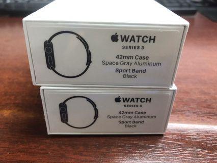 美版Apple Watch 3 42mm 42 Black GPS Brand New Unsealed 有單