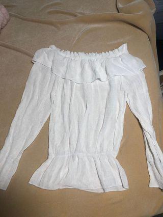 Over the shoulder blouse