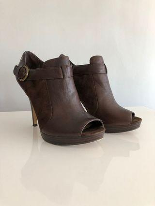 Coach open toe heels
