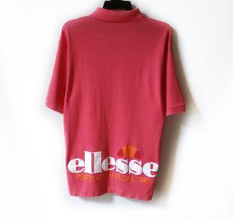 Vtg Ellesse Big Logo Collar Shirt