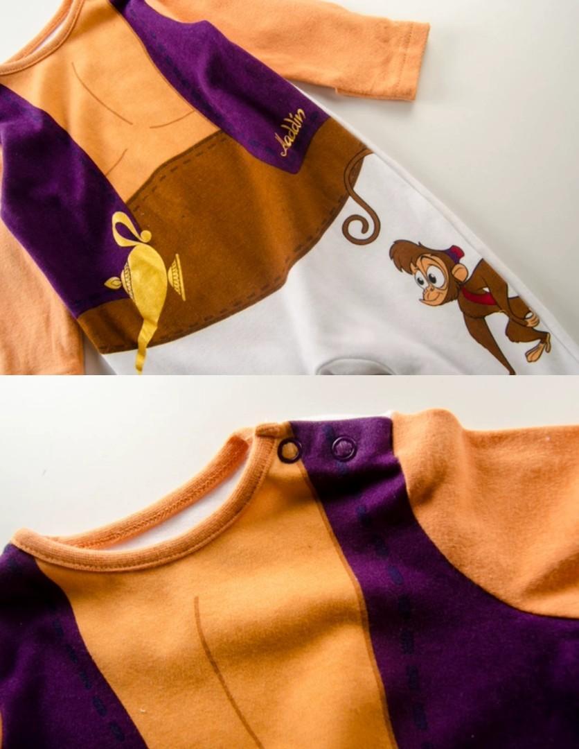 🌟限定🌟❤0-12m❤ 阿拉丁Aladdin 出囗歐洲 男女BB嬰兒長袖連身夾衣 baby jumpsuit bodysuit