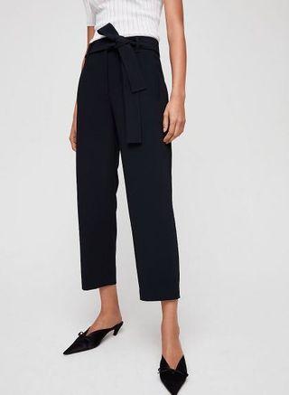 Aritzia Jallade Tie Front Pants Black 4