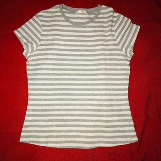 M&S Striped Cotton Tee (thick cotton)
