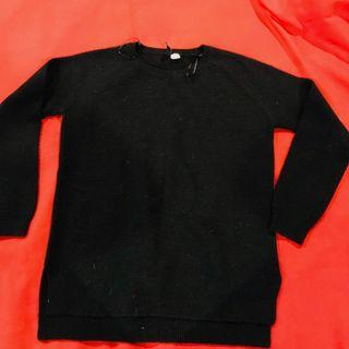Black Acrylic Knit Sweater size small but will fit medium
