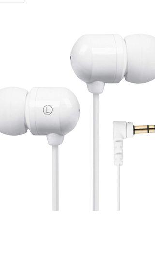 Betron B750s Earphones Headphones, High Definition, in-ear, Tangle Free, Noise Isolating , HEAVY DEEP BASS for iPhone, iPod, iPad, MP3 Players, Samsung Galaxy, Nokia, HTC, Nexus, BlackBerry etc (White)