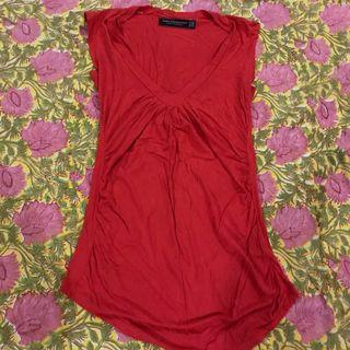 Zara Collection red t-shirt size small