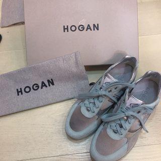 全新 正品❤️HOGAN 藍綠色 增高 休閒鞋 球鞋
