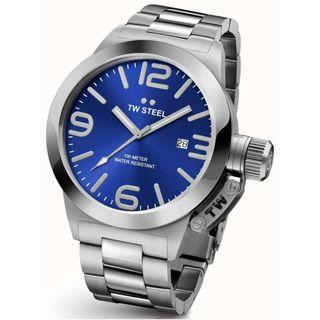 TW Steel Mens Canteen 45mm Stainless Steel Blue Dial