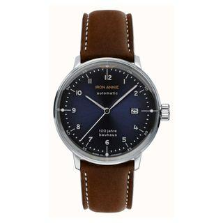 Junkers Iron Annie | Bauhaus | Brown Leather Strap | Blue Dial