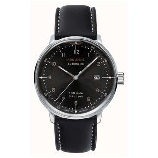 Junkers Iron Annie | Bauhaus | Black Leather Strap | Black Dial