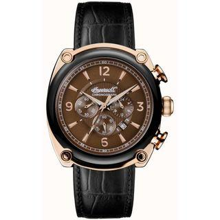 Ingersoll Mens 1892 The Michigan Black Leather Strap