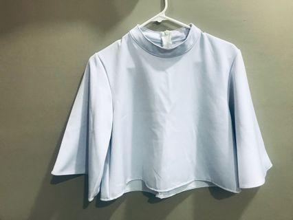 [Preloved] Light Blue Top