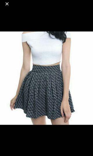 BNWT Checkered Skater Skirt