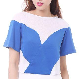 BNWT MDS Tracey Top in Blue