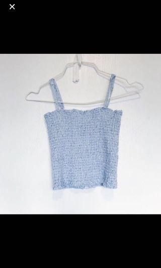 WTT only brandy Melville blue floral ally top tank