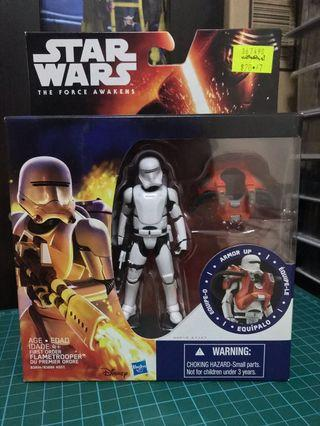 """Star Wars The Force Awakens First Order FlameTrooper 3.75"""" armor up"""