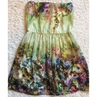 (New without tag) ZARA Off Shoulder Floral Dress  M size