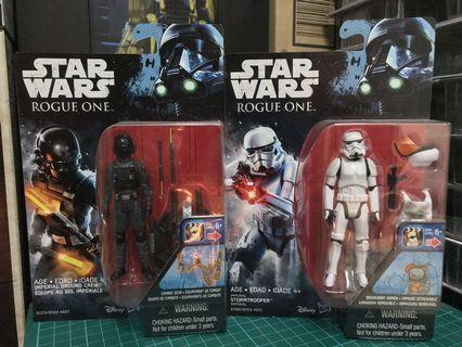 """Star Wars Rogue One Imperial Ground Crew and Imperial Stormtrooper 3.75"""""""